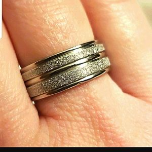 PAVE STAINLESS STEEL RING☆8(WEDDING BAND)